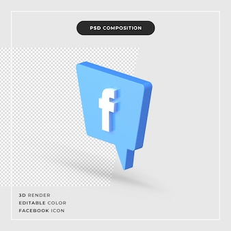 3d facebook-logo geïsoleerd pictogram