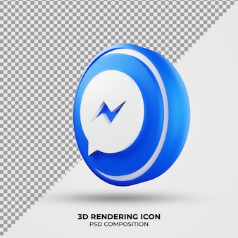 3d facebook messenger-pictogram weergeven