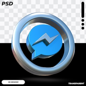3d facebook messenger-pictogram Premium Psd