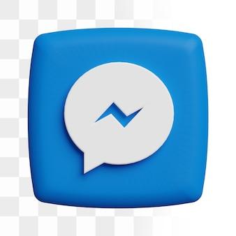 3d facebook messenger-pictogram