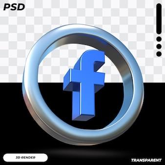 3d facebook-pictogram Premium Psd