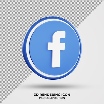 3d facebook rendering-pictogram