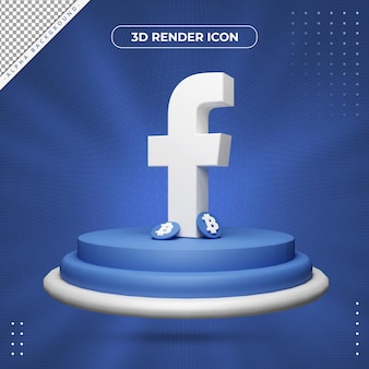 3d facebook rendering pictogram