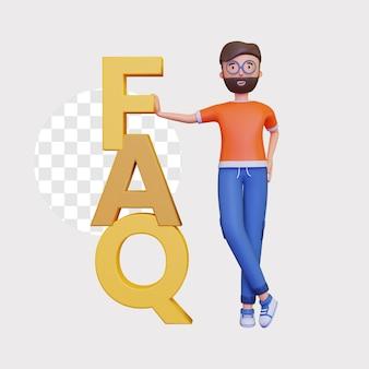 3d faq concept illustratie