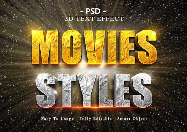 3d-films tekststijleffect