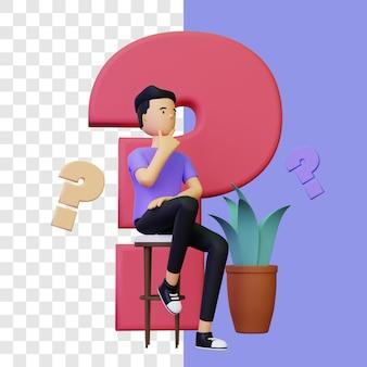 3d gedachte illustratie concept