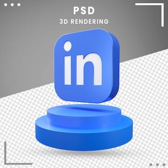 3d gedraaid logo linkedln