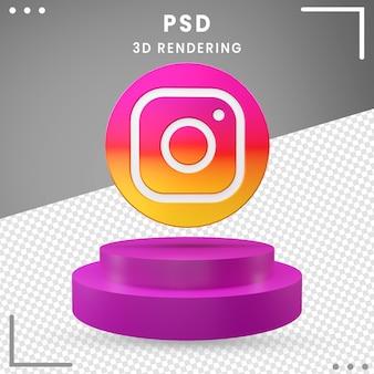 3d gedraaid logo pictogram instagram geïsoleerd