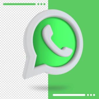 3d gedraaid logo van whatsapp in 3d-rendering