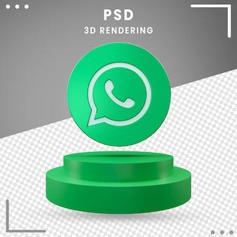 3d gedraaide logo pictogram whatsapp ontwerp rendering geïsoleerd