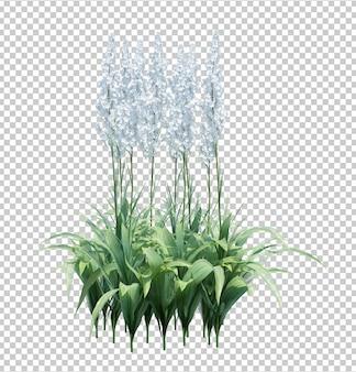 3d geef borstelboom terug die op wit wordt geïsoleerd Premium Psd