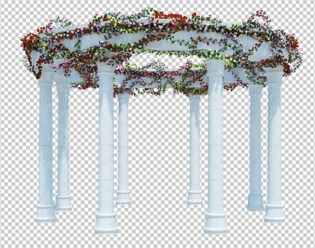 3d geef geïsoleerde borstelboom terug
