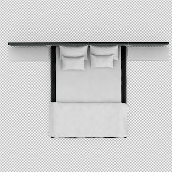 3d geef van isometrisch bed terug