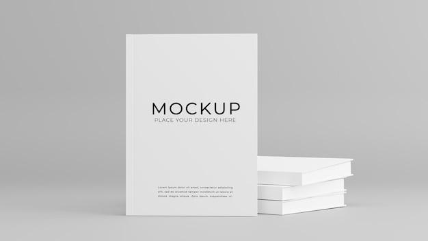 3d geef van wit boekmodelontwerp terug