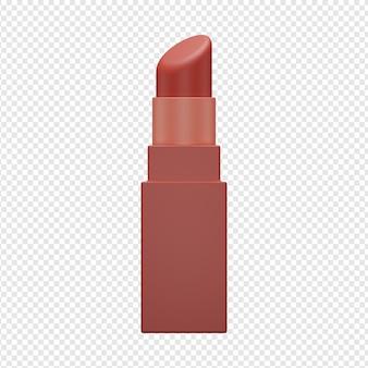 3d geïsoleerd render van lippenstiftpictogram psd