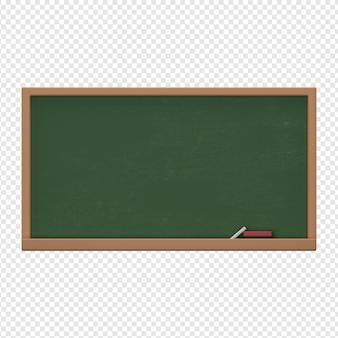 3d geïsoleerd render van schoolbordpictogram psd