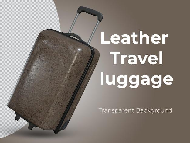 3d-geïsoleerde hoogwaardige lederen reisbagage