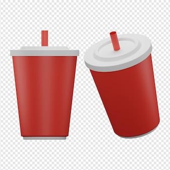3d-geïsoleerde render van drank icon