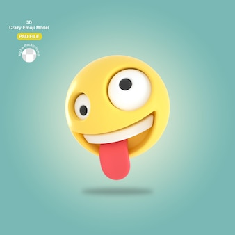 3d gekke emoji
