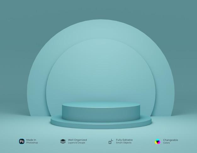 3d geometrisch podium voor productplaatsing met cirkelvormig ontwerp
