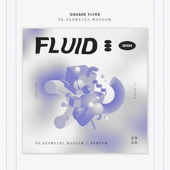 3d-geometrische vormen flyer sjabloon