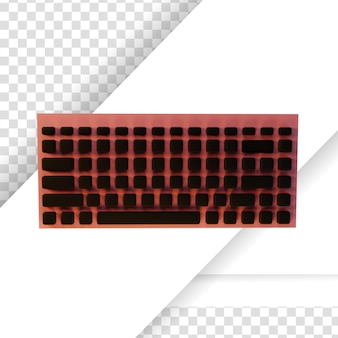 3d-gerenderd zwart en roze pc-toetsenbord
