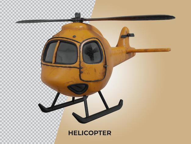 3d-gerenderde geïsoleerde hoge kwaliteit laag poly helikopter