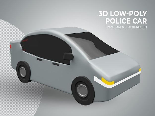 3d-gerenderde hoge kwaliteit schattige lage poly speelgoedauto