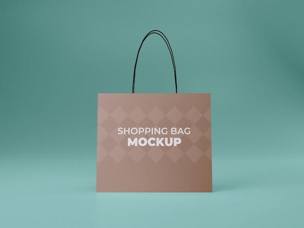 3d-gerenderde hoge kwaliteit winkelen aanpasbare boodschappentas mockup