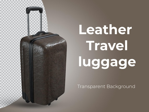 3d-gerenderde hoogwaardige lederen reisbagage