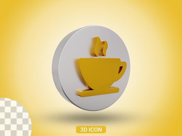 3d-gerenderde koffiekopje pictogram ontwerp