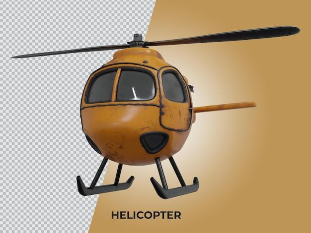 3d-gerenderde lage polyhelikopter van hoge kwaliteit