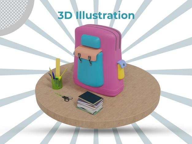 3d-gerenderde leraren dag 3d illustratie ontwerp zijaanzicht