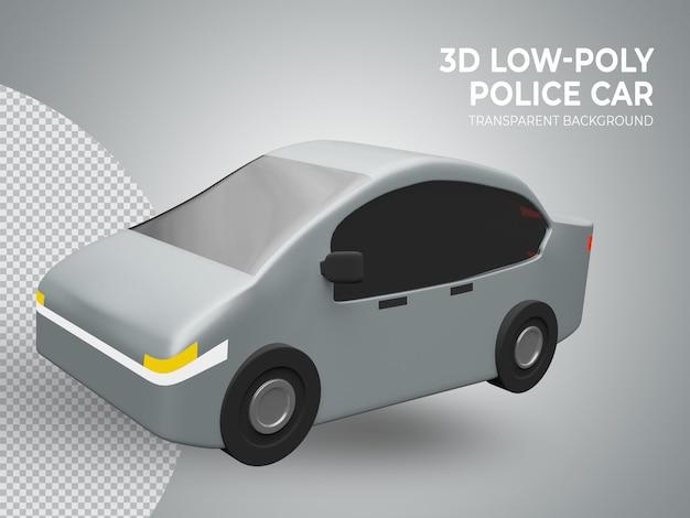 3d-gerenderde schattige lage poly speelgoedauto