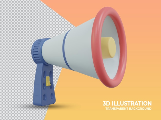 3d-gerenderde transparante marketing handmicrofoon