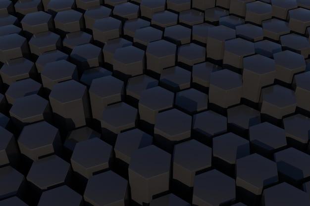 3d-gerenderde zeshoekige achtergrond