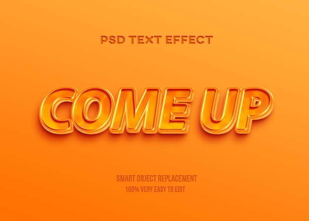 3d glanzend oranje gouden tex-effect