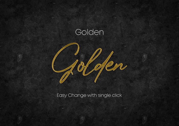 3d gouden tekst psd-sjabloon