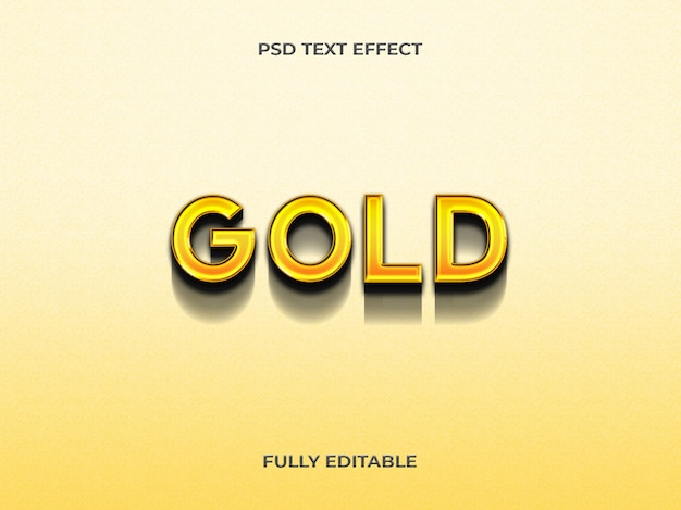 3d-gouden teksteffect sjabloon