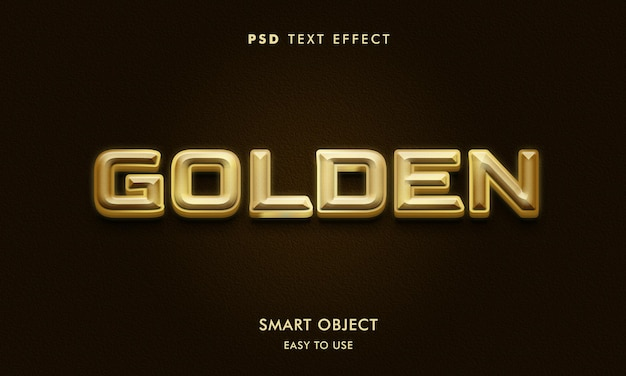 3d gouden teksteffectsjabloon met donkere achtergrond