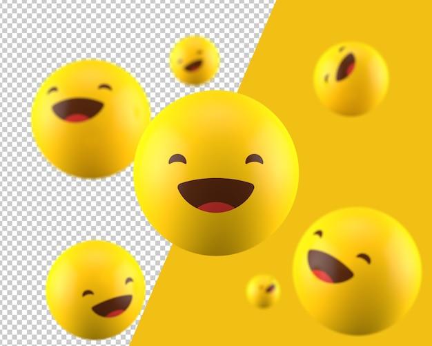 3d grijnzende emoticon pictogram