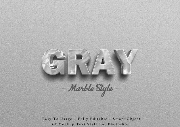 3d grijs marmeren teksteffect op muur