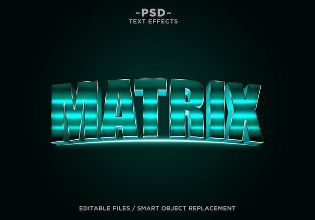3d-groene filmische effect bewerkbare tekst
