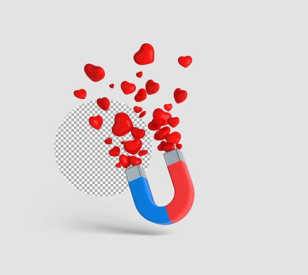 3d grote magneet die harten aantrekt