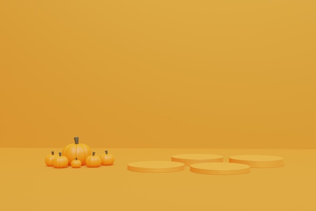 3d halloween-podiumpodium voor productvertoning