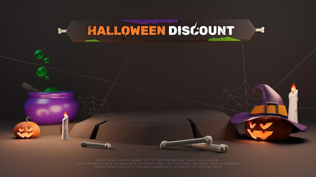 3d halloween promotie korting verkoop podium