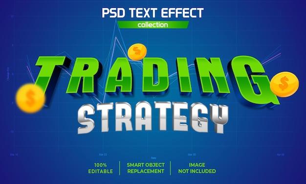 3d handelsstrategie tekst effect