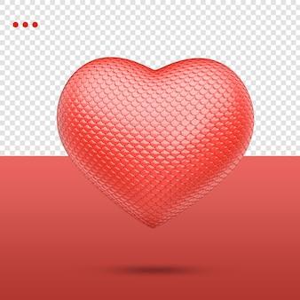 3d hart met hobbelige textuur