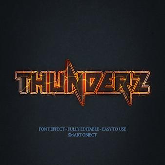 3d helder thunderz teksteffect