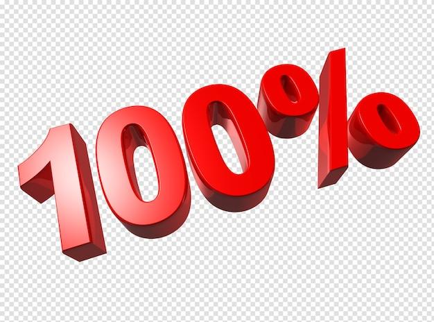 3d honderd procent nummers geïsoleerd